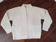 Women's Zip-Front Handknit Irish Knit Sweater Size 6-8 in Naperville, Illinois