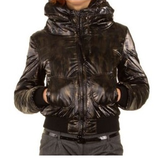 New - Sofia Hooded Brown Bomber Jacket in Ramstein, Germany