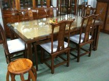 Antique dining table set in Okinawa, Japan
