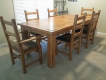Solid Wood Rustc Table and Chairs in Camp Lejeune, North Carolina