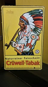 """1930's """"Cruwell-Tabak"""" Indian Cardboard Stand-up Advertising Sign in Wiesbaden, GE"""