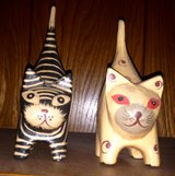 Wooden Cats in Duncan, Oklahoma