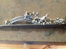 Railroad spike with miners in Lockport, Illinois
