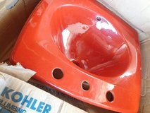 Red Lavatory Sink in Glendale Heights, Illinois