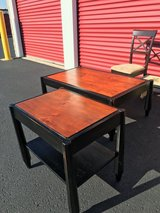 Coffee table and two end tables in Naperville, Illinois