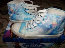Disney Frozen high top sneaker size 6 light blue in Joliet, Illinois