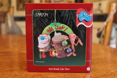 """1998 The Ren & Stimpy Show Christmas Ornament """"Yule Really Like This"""" in Fort Hood, Texas"""