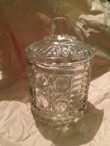 Cut Glass Crystal Jar/Lid in Kingwood, Texas