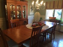 Dining Room Set Table, 6 chairs and Curio Cabinet Hutch in Naperville, Illinois