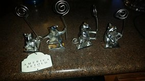 New / Silver / 4 Piece Mice Picture Holder Set in Fort Campbell, Kentucky