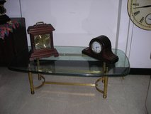 Glass and Brass Coffee Table - $65 (by Stafford County Courthouse) in Quantico, Virginia