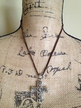 Vintage Antique carved cross necklace in Naperville, Illinois