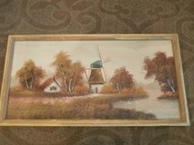 Vintage windmill painting in Cleveland, Texas