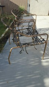 Metal chairs in 29 Palms, California