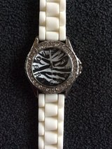 A zebra watch in Westmont, Illinois