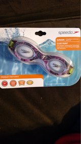 Speedo Record Breaker Goggles - Junior Size - Dark Pink/Purple/Lime Green (T=15) in Fort Campbell, Kentucky