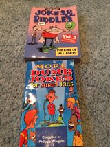 """Jokes&Riddles""and ""Dumb Jokes for smart kids""books in Westmont, Illinois"