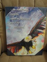 "NIP ""FREEDOM CANNOT BE BESTOWED IT MUST BE ACHIEVED"" ART WORK in Camp Lejeune, North Carolina"