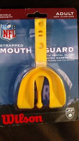 Wilson Adult Single Density Mouthguard with Strap - Yellow By NFL (T=15) in Fort Campbell, Kentucky