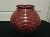 Red Ceramic Vase in Eglin AFB, Florida