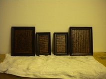 "Four wooden serving plates two 3""x4"" and two 6""x8"" in Ramstein, Germany"