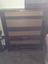 Solid wood shelving unit in Aurora, Illinois