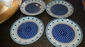 Stars / Striped / 4 Piece Polish Pottery Plate in Fort Campbell, Kentucky