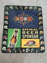 1998 Super Bowl XXXII (32) Metal Large sign - Miller Light Sign - football in Chicago, Illinois