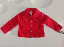 Old Navy Red Jeans Jacket 12-18 months in Fort Campbell, Kentucky