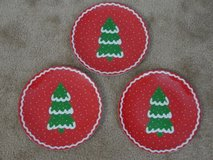 """CHRISTMAS TREE DESIGN"" SALAD PLATES in Camp Lejeune, North Carolina"
