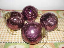 """CHRISTMAS HEAVY ORNAMENTS"" SET OF 4 in Camp Lejeune, North Carolina"