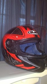 HJC CL 16 Voltage Full Face Motorcycle Helmet MC 1 Red/ Size XXL~ Light Weight in Okinawa, Japan