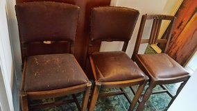 3x solid wooden chairs in Lakenheath, UK