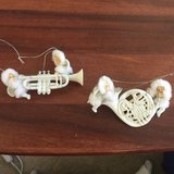 Trumpet and French horn angels ornament in Batavia, Illinois