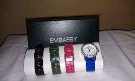 NIB - Embassy Watch w.Removable Bands in Beaufort, South Carolina