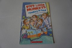 Five Little Monkeys Reading in Bed (Scholastic Paperback) in Aurora, Illinois