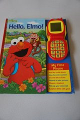 Sesame Street Hello Elmo My First Phone with Sound Board Book in Batavia, Illinois