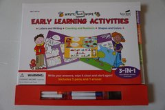 Write and Wipe Early Learning Activity Book in Chicago, Illinois