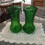 Emerald Green Hoosier Glass Vases in Fort Campbell, Kentucky