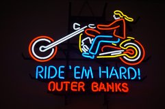 """RIDE' EM HARD"" Harley-Davidson NEON SIGN in Camp Lejeune, North Carolina"