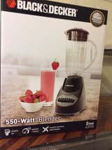 Black and Decker blender 550 watt, new in box, plastic jar in Byron, Georgia