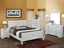 New Queen Cherry Sleigh bed suite,5 piece set in Camp Lejeune, North Carolina