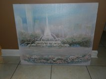 Oil painting of the Fountain in Chicago in Oswego, Illinois