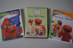 Sesame Street 3 pack Elmo DVD Movies in Plainfield, Illinois