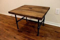 Pipe Leg Side Table, End Table, Distressed Wood in Kingwood, Texas