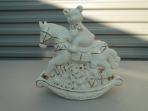 Bear - Christmas, ceramic in Travis AFB, California