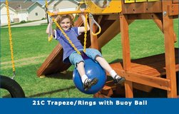 Play Set Buoy ball swing with trapeze and rings in Camp Pendleton, California