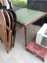 folding table w/4 chairs in Fort Riley, Kansas