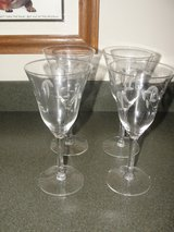 "PRINCESS HERITAGE COLLECTION ""TULIP DESIGN"" WINE GLASSES SET OF 4 in Camp Lejeune, North Carolina"