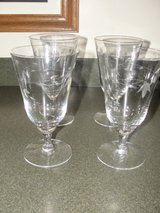 "PRINCESS HERITAGE COLLECTION ""TULIP DESIGN"" BEVERAGE GLASSES SET OF 4 in Camp Lejeune, North Carolina"